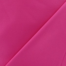 Tissu Gabardine coton fuchsia x 10cm