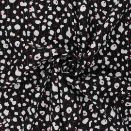 Lurex viscose fabric - black Romana x 10cm