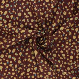 Lurex viscose fabric - brown Romana x 10cm