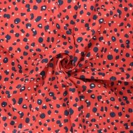 Lurex viscose fabric - red Romana x 10cm