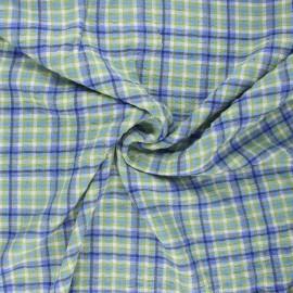 Embossed viscose fabric - blue Roslin x 10cm
