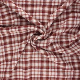 Tissu viscose gaufré Roslin - tomette x 10cm