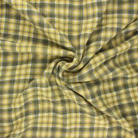 Embossed viscose fabric - yellow Roslin x 10cm