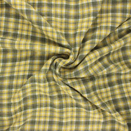 Tissu viscose gaufré Roslin - jaune x 10cm