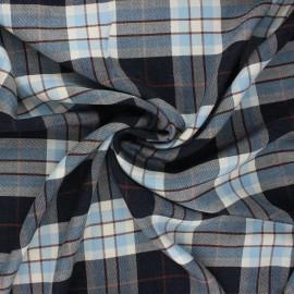 Viscose twill fabric - blue Lewis x 10cm