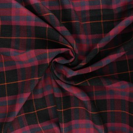 Viscose twill fabric - purple Lewis x 10cm