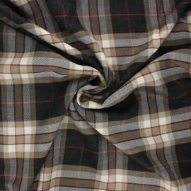 Tissu sergé de viscose Lewis - sable x 10cm