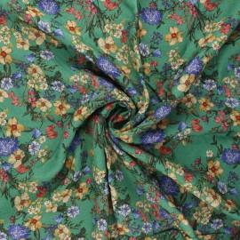 Viscose fabric - green Champ printanier x 10cm