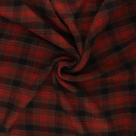 Embossed rayon fabric - rust Aileen x 10cm