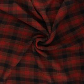 Tissu rayonne gaufré Aileen - rouille x 10cm