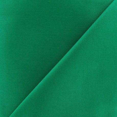 Tissu Gabardine coton vert prairie x 10cm