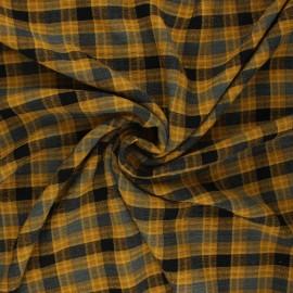 Tissu rayonne gaufré Aileen - jaune curry x 10cm