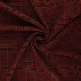 Embossed rayon fabric - red brick Melrose x 10cm