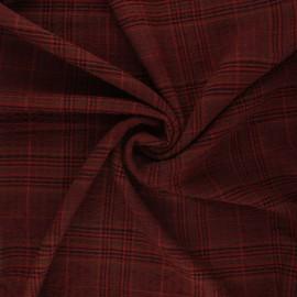 Tissu rayonne gaufré Melrose - tomette x 10cm