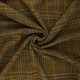 Embossed rayon fabric - curry yellow Melrose x 10cm