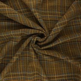 Tissu rayonne gaufré Melrose - jaune curry x 10cm