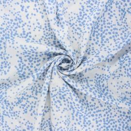 Viscose fabric - white Pisella x 10cm