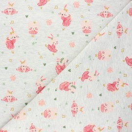 Poppy jersey fabric - mottled raw Ballet stars x 10cm