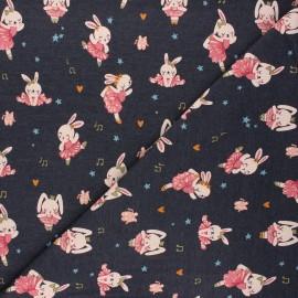 Tissu jersey Poppy Ballet stars - anthracite x 10cm