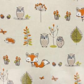 Tissu coton enduit Fryett's renard - taupe x 10cm