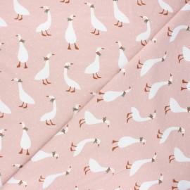 Poppy jersey fabric - light pink Cute goose x 10cm