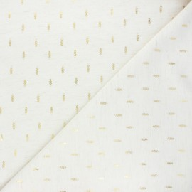 Linen and viscose fabric - mottled raw Arsène  x 10 cm