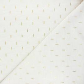 Tissu lin viscose Arsène - écru chiné x 10 cm