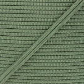 11mm Double Piping - khaki green Henriette x 1m
