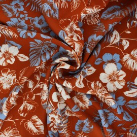 Viscose fabric - rust Rose du désert x 10cm