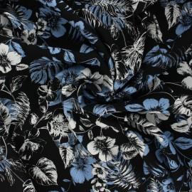 Viscose fabric - black Rose du désert x 10cm