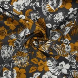 Viscose fabric - taupe Rose du désert x 10cm
