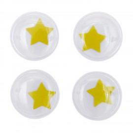 Yeux mobiles autocollants Rico design - étoile (set de 4)