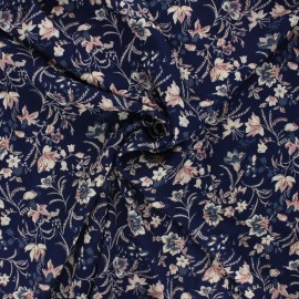 Viscose fabric - night blue Madeleine x 10cm