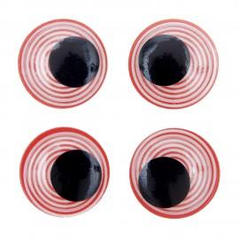 Yeux mobiles autocollants Rico design - spirale  (set de 4)