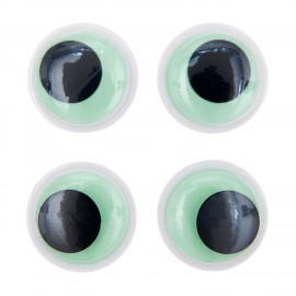 Yeux mobiles autocollants Rico design - phosphorescent (set de 4)