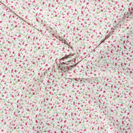 Viscose fabric - white Cardamine des prés x 10cm