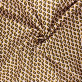 Tissu coton popeline Poppy Graphic dots - rose clair x 10cm