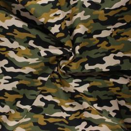 Poppy poplin cotton fabric - sand Army camouflage x 10cm