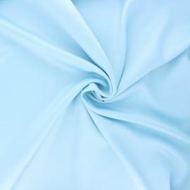 Satin fabric - light blue Duchesse x 10cm