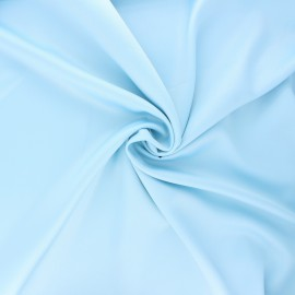Tissu satin Duchesse - bleu clair x 10cm