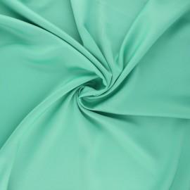 Satin fabric - green Duchesse x 10cm