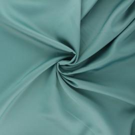 Tissu satin Duchesse - sarcelle x 10cm