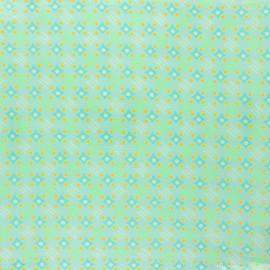 Tissu coton enduit Petit Pan Satellite of love - azur x 10cm