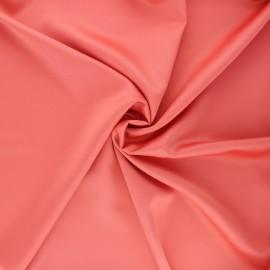 Tissu satin Duchesse - corail x 10cm