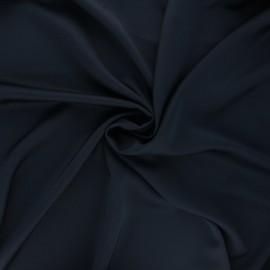 Satin fabric - night blue Duchesse x 10cm