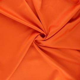 Satin fabric - orange Duchesse x 10cm