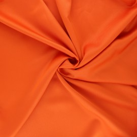 Tissu satin Duchesse - orange x 10cm