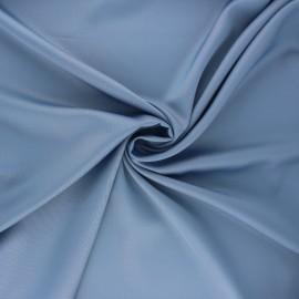 Satin fabric - steel blue Duchesse x 10cm