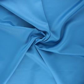 Tissu satin Duchesse - bleu houle x 10cm