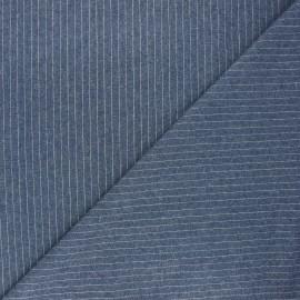 Tissu jeans fluide Loctudy - bleu x 10cm